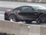 A crashed 2013 Ford Mustang Cobra Jet