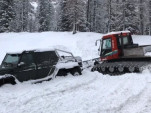 A G63 AMG 6x6 can still get stuck in the snow