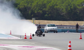A homemade water trike that can hit 160 mph in four seconds