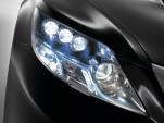 A look at the new LED headlights on the Lexus LS600h