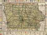 A map of auto trails and highways in Iowa in 1919