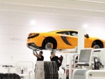 A McLaren MP4-12C under construction