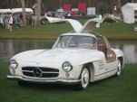 A Mercedes-Benz 300SL Gullwing coupe at Amelia Island