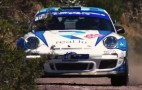 Porsche 911 GT3 RS 4.0 pushes hard in rally race