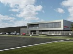 A rendering of the upcoming Porsche Experience Center in Carson, California