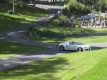 A Veyron driver takes an innovative line at the U.K.'s Prescott hill climb