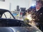 A vintage Ferrari goes under the knife for art