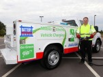 AAA's Mobile Electric Vehicle Charging truck