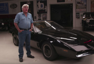 Actual on-screen-used KITT drives into Jay Leno's Garage