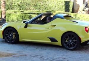 Alfa Romeo 4C Spider seen undisguised in Motor.es video