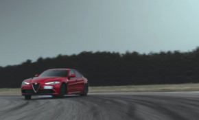 Alfa Romeo Giulia Quadrifoglio gets tossed around by a trio of F1 drivers