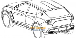Alleged patent drawing for Lotus SUV - Image via PC Auto