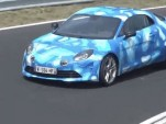 Alpine A110 testing at Nürburgring