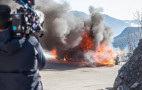 """Top Gear"" hosts narrowly escape Alpine A110 fire"