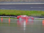 An Aston Martin in the wet at the Boxberg Proving Grounds