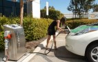 Cheesiest DC Fast-Charging Video Ever: Tight Dress, High Heels Included