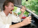 Angry Driver with Road Rage