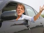 Angry teen driver