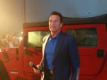 Arnold Schwarzenegger introduces the Kreisel Hummer H1 electric conversion