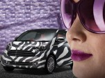 Aston Martin Cygnet in zebra stripe pattern