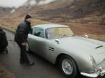 Aston Martin DB5 on the set of new James Bond movie 'Skyfall'
