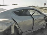 Aston Martin Rapide crash captured on video