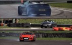 Jaguar F-Type goes up against an Aston V8 Vantage and Porsche 911 Carrera S: Video