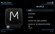 Audi MMI with handwriting recognition