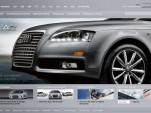 Audi U.S. website front page, January 2010