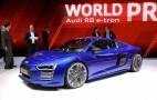 Audi R8 e-tron debuts at 2015 Geneva auto show