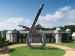 Audi's centennial sculpture at Goodwood, by Gerry Judah