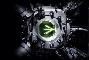 Audi's glass engine for testing e-gas synthetic natural gas