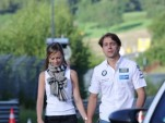 Augusto and Liri Farfus, before going for a casual drive around the 'Ring