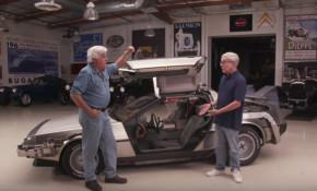 """""""Back to the Future"""" DeLorean time machine replica at Jay Leno's Garage"""