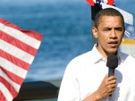 Barack Obama on the campaign trail, 2008