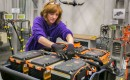 Battery pack assembly for 2015 Chevrolet Spark EV electric car at GM's Brownstown, Michigan, plant