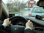 behind the wheel of a behavior-mapping Volvo