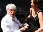 Bernie Ecclestone and Tina Zegg show off 2 million euro Hublot BB watch