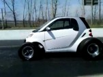Big block-powered Smart ForTwo drag car
