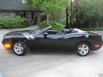 black Challenger convertible