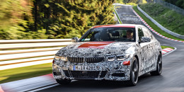 2019 BMW 3-Series prototype testing on the Nürburgring