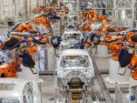 BMW vehicles in production at the Spartanburg, South Carolina plant