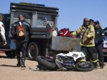 Crash site of Bobby Goodin at Pikes Peak (Image via Colorado Springs Gazette)