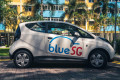 Bollare BlueCar electric cars will be used in Singapore's new car sharing service, BlueSG