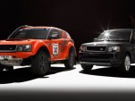 Bowler EXR rally raid SUV and the Range Rover Sport on which it's based