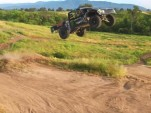 "Brian Deegan does ""yard work"" with his off-road race truck"