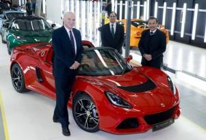 British politicians visit Lotus factory in Hethel, England