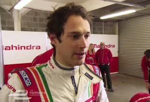 Bruno Senna racing for Mahindra in Formula E