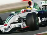 Bruno Senna testing the Honda F1 car