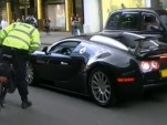 Bugatti Veyron driver pulled over by bicycle cop.